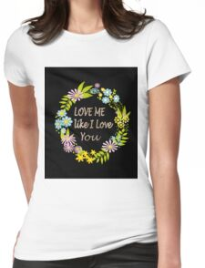 Illustration Of Love . Valentine's Day. Holiday Womens Fitted T-Shirt