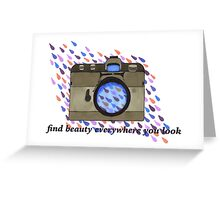 find beauty- vintage camera Greeting Card