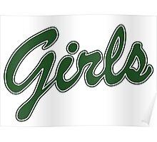 Girls Friends Green Poster