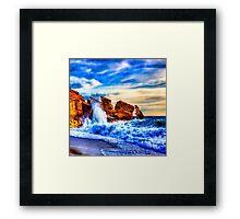 Sea & Relax artwork Framed Print
