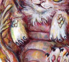 Can I haz belly rubz? Fantasy dragon cat Sticker