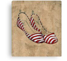 Red and white stripes Canvas Print