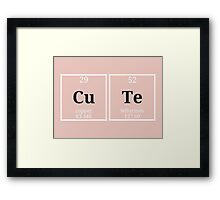 Geeky & CuTe Periodic Table  Framed Print