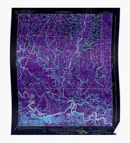 USGS TOPO Map Arkansas AR Moro Bay 260205 1938 62500 Inverted Poster