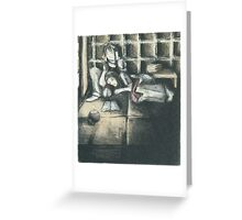Sisters in Candlelight Greeting Card
