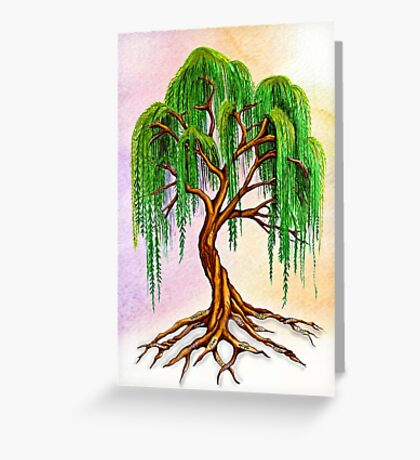Weeping Tree of Life Greeting Card