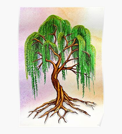 Weeping Tree of Life Poster