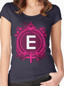 FOR HER - E Women's Fitted Scoop T-Shirt