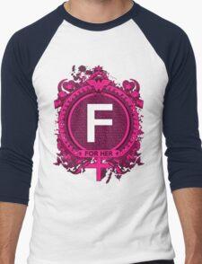 FOR HER - F Men's Baseball ¾ T-Shirt