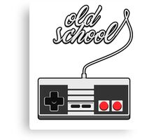Old School Video Game Novelty T-Shirt Canvas Print
