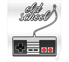 Old School Video Game Novelty T-Shirt Poster