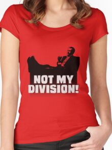 """""""Not My Division"""" Women's Fitted Scoop T-Shirt"""