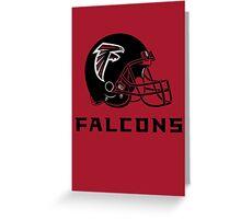 falcons helmets Greeting Card