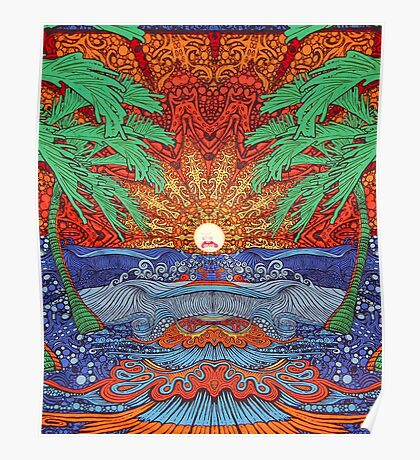 Rick And Morty Sun Tapestry  Poster