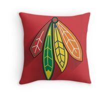 Chicago Blackhawks Minimalist Print Throw Pillow