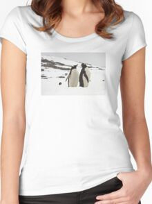 "Gentoo Penguins ~ ""Life in the Freezer"" Women's Fitted Scoop T-Shirt"