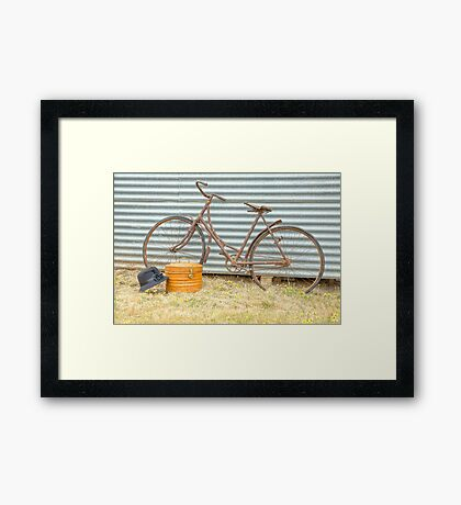 The Milliner's Bicycle.... Framed Print