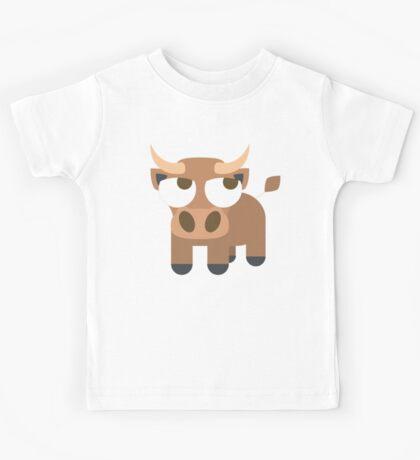 Ox Emoji Thinking Hard and Hmm Look Kids Tee