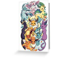 e eveelutions pokemon Greeting Card