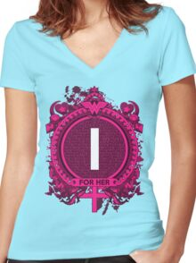 FOR HER - I Women's Fitted V-Neck T-Shirt