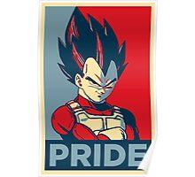 Vegeta -- Saiyan Pride (Obama Hope Poster Parody) Poster