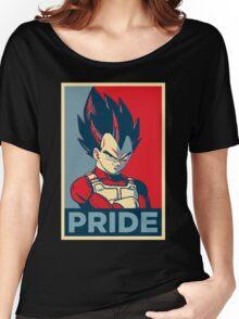 Vegeta -- Saiyan Pride (Obama Hope Poster Parody) Women's Relaxed Fit T-Shirt