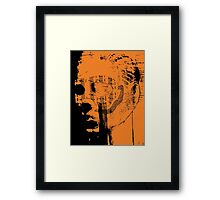masked face Framed Print