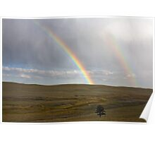 Double rainbow over Trout Creek Poster