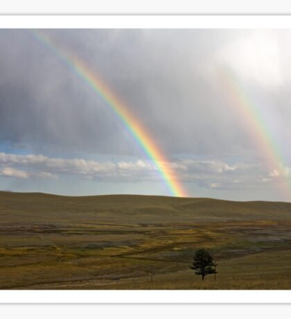 Double rainbow over Trout Creek Sticker