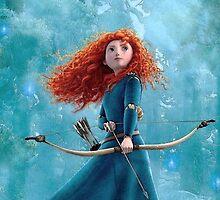 Merida the Brave - DIsney by Mellark90