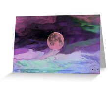 Moon River-  Art + Products Design  Greeting Card