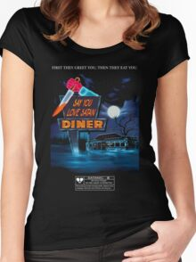 Say You Love Satan 80s Horror Podcast - Blood Diner Women's Fitted Scoop T-Shirt