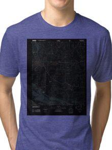 USGS TOPO Map Arkansas AR Mena 20110811 TM Inverted Tri-blend T-Shirt