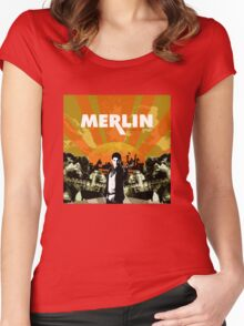 Merlin (Mayday Parade Parody) Women's Fitted Scoop T-Shirt