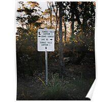Sign Post in the Australian Bush Poster