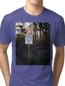 Sign Post in the Australian Bush Tri-blend T-Shirt