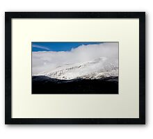 First snow on Hoosier Pass, Colorado Framed Print