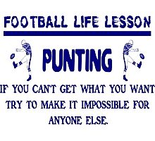 Punting: Football Life Lessons Photographic Print