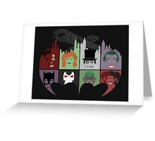 Gotham Villains Greeting Card