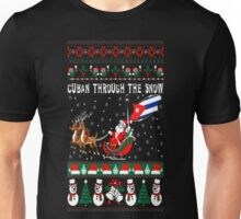 Cuban Through The Snow Christmas Ugly Sweater T-Shirt Unisex T-Shirt
