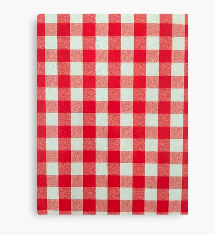 Red And White Checks Canvas Print