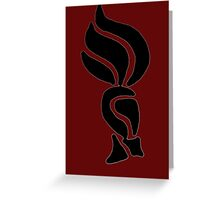 Plumed Soldier  Greeting Card