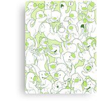 Otterpaloza (Green) Canvas Print
