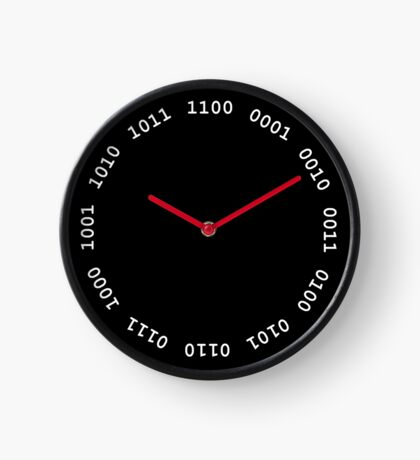 Binary clock, white lettering Clock