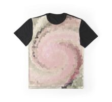 Multicolored mosaic in pink and grey tones . Graphic T-Shirt