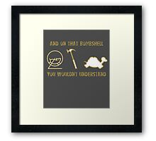 Exclusive Hamster, Jezza, and Captain Slow Awesome T-Shirt Framed Print