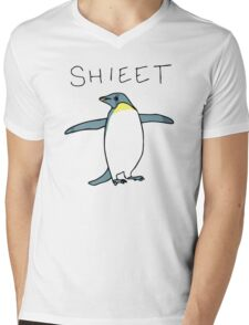 Shieet Penguin Mens V-Neck T-Shirt