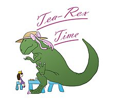 Tea-rex Time Photographic Print