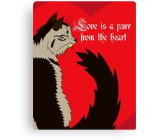 Love is a Purr from the Heart Canvas Print