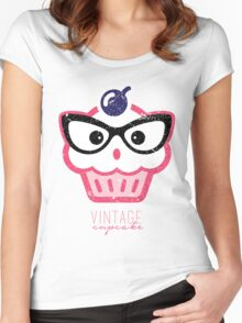 Vintage Cupcake Women's Fitted Scoop T-Shirt